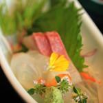 倭寇 - 天ぷら定食 刺身
