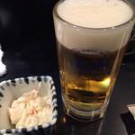 居酒屋 なか川 - 生ビールとお通し