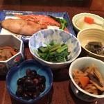 波浮港 - 2015.01 前菜盛り合わせ全景