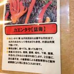 居酒屋くぼた - 謎のカエンタケの看板