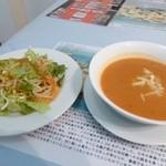 34488183 - ドネルケバブセット、サラダ&スープ(平日ランチ)