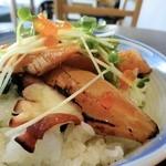 深川日和 - ミニ漬け炙りサーモン丼