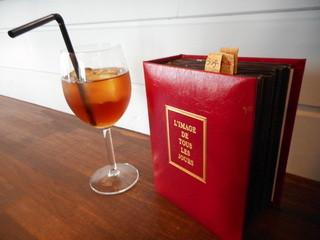 クインテット - ウーロン茶と、32ページくらいあったメニュー本