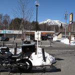 蕎麦 ふじおか - 大座法師池前より飯綱スキー場を望む
