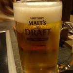 もつ福 - モルツ生ビール:637円