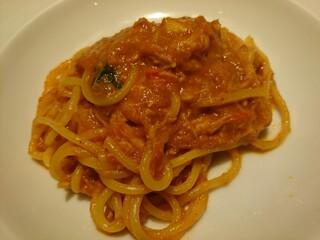 トラットリア タンタボッカ - 『ズワイガニと渡りガニのトマトソース スパゲティ』