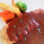 パセリ - 料理写真:ランチ(ビーフカツレツ)