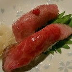 米沢牛黄木 東京店 - 土日祝限定・贅沢膳の米沢牛寿司