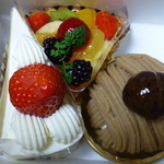 ムッシュ - 買って来たケーキ3種類