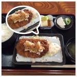 松任海浜温泉 食堂 - 料理写真:おろしとんかつ