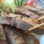 達人村喫茶山ぼうし - 幻の岩清水豚 ポークステーキ  1350円