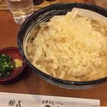 やしま - あげ玉醤油うどん(あつあつ)