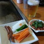 34505221 - たこ明太と、サービスの野菜