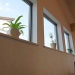 カフェ キナリ - 窓際にも花が・・