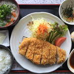 達人村喫茶山ぼうし - 幻の岩清水豚 とんかつ  1200円