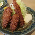 有の実 - ミックスフライ(海老&串カツ&牡蠣)アップw