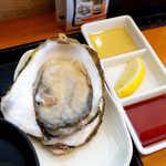 かきや NO KAKIYA - 大船渡・赤崎の生牡蠣。レモン、ビネガー、ポン酢いずれかお好みで