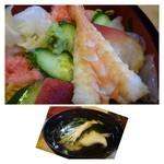 奴寿司 - お吸い物は「魚のアラ」のお出汁がよく出ていて美味しい。