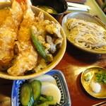 蕎麦わび介 - 天丼とミニセイロ