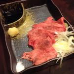 34519885 - 牛タン刺し(1200円)