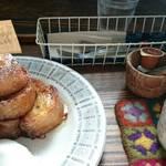 Hashigo Cafe - フレンチトースト(洋) セット 800円♪ ハチミツ・ ホイップ ・ジャム