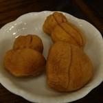 五龍閣 - 試食に出て来た「豆乳ラスク」。  売店で販売中、15個入り¥600?だったかな?夜店で売ってるベビーカステラ風でした。