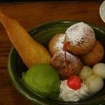 五龍閣 - 豆乳プリンパフェ