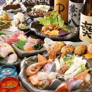 新年会の飲み会など飲み放題付コースがなんと3500円~!!