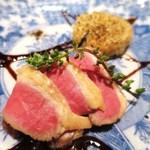 34538119 - ひじきのリゾット 鴨肉 低温含め煮