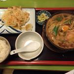 喜作 - 味噌煮込み定食(普通盛)