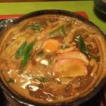 喜作 - 味噌煮込み定食の味噌煮込みうどん(普通盛)