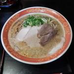 味見鶏まるめん - 背脂醤油ラーメンの唐揚げ定食1030円ラーメン