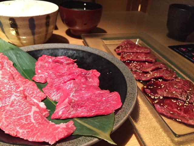 はなもんや - Aコースのお肉と赤身