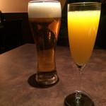 ビストロ - 生ビール・ミモザ