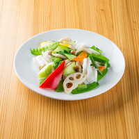 中国菜品 空心房 Produced by えびえびそば - 海鮮と季節野菜の塩炒め