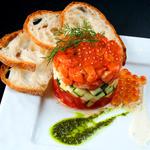 牡蠣と地中海料理 ALEGRIA - イクラのシャンパン漬けとキングサーモンのタルタル