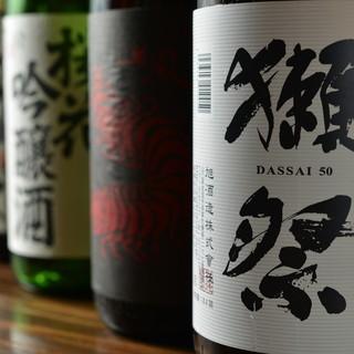 プレミアム日本酒揃えてます。