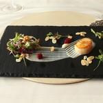エノテーカ ピンキオーリ - 帆立貝 根セロリのクリーム アーモンド風味 (2015/01)