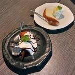 カウタウ - aomayuさんの抹茶のマーブルレアチーズケーキ&ガトーショコラ 200円