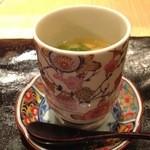 34566603 - 茶碗蒸し 梅肉と平目