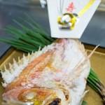 かちゃ料理 むとう - お食初め 鯛の塩焼き