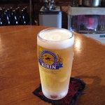 わいんぱぶ ためのぶ - ストーブで暖をとりながら戴く冷たい生ビールは最高ですね