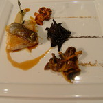 Restaurant Régis & Jacques Marcon - 三種のきのこ トランペット、ジロール、セップ