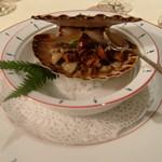 Restaurant Régis & Jacques Marcon - 帆立 トリュフと鉄板