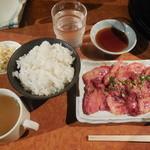 牛の達人 - カルビ定食¥750-→¥500-