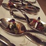 Restaurant Régis & Jacques Marcon à Saint-Bonnet-Le-Froid - アミューズも洗練されました