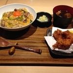 34573302 - 鴨丼 と 唐揚げ