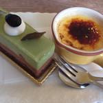 ロマラン洋菓子店 番町本店 - 抹茶チョコムースケーキとクレームブリュレ