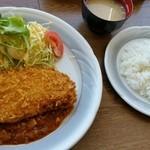 展望レストラン・ワンピース - ミルフィーユカツ定食(税込1,100円)