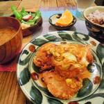 34576976 - 鶏の唐揚げネギソースがけ定食